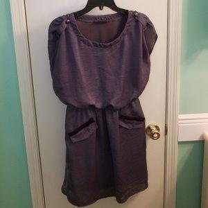 Silky dress in silver grey